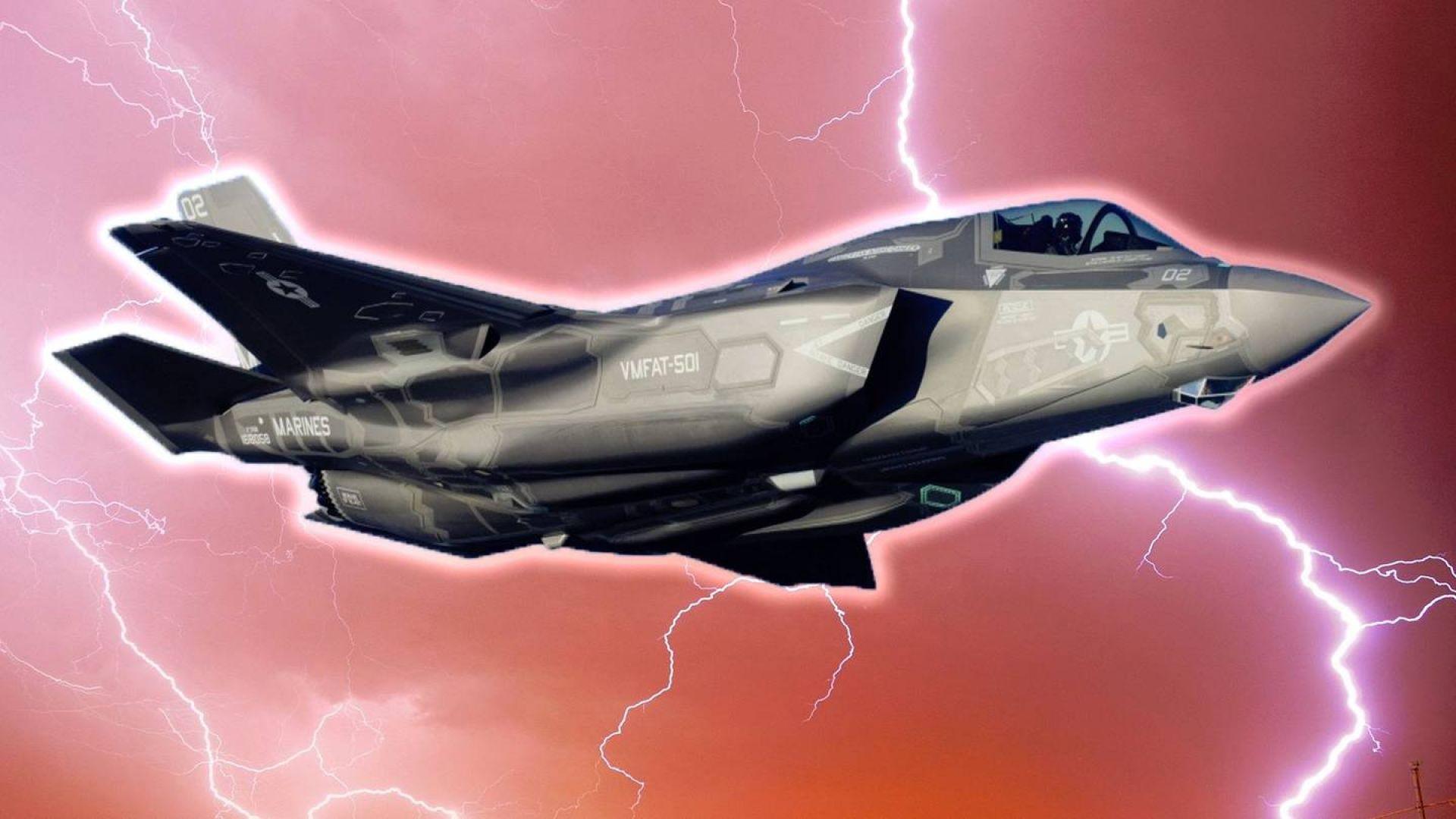 Мълнии могат да унищожат най-модерния американски самолет