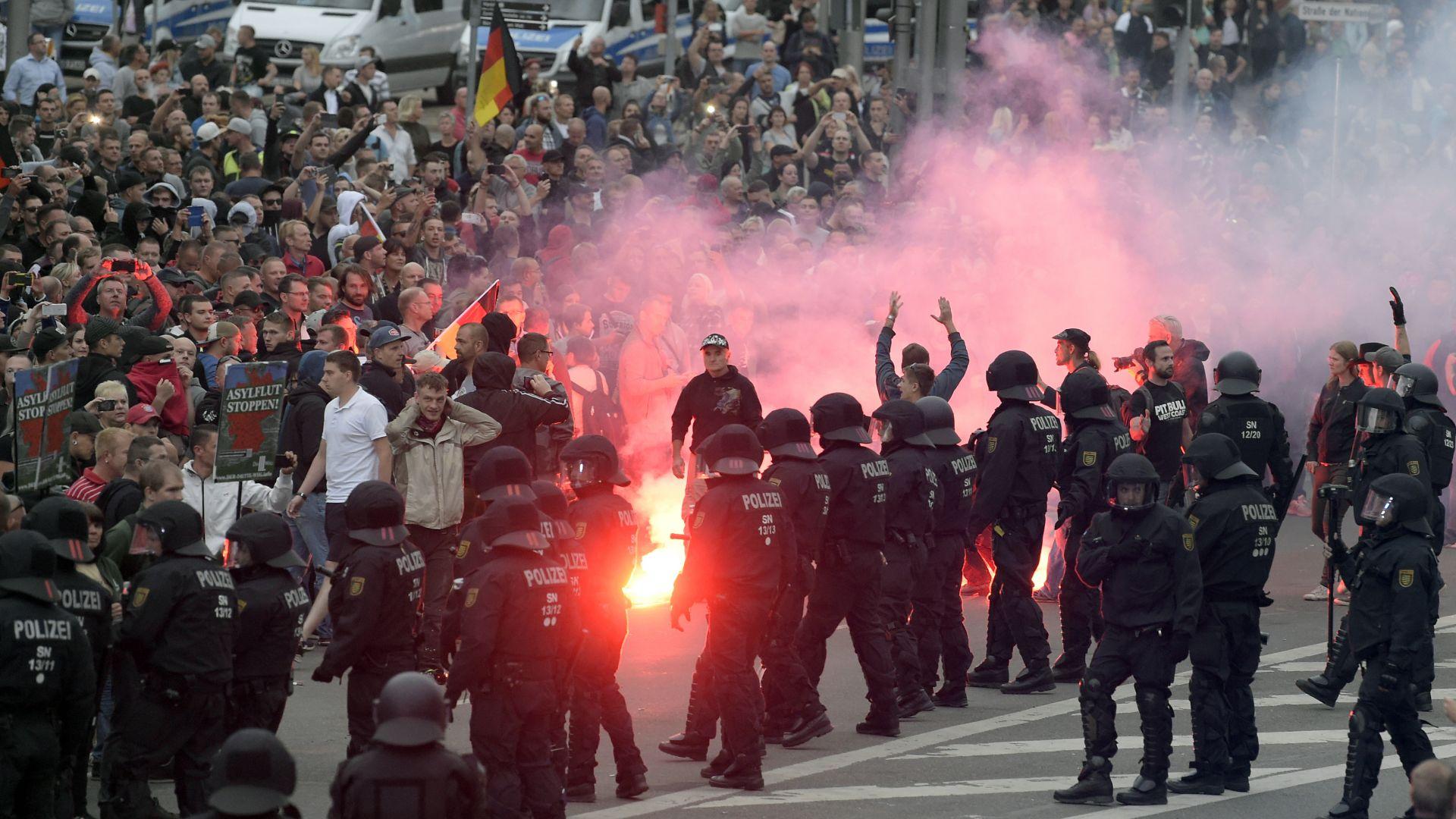 Българин заплашван по време на безредиците в Кемниц