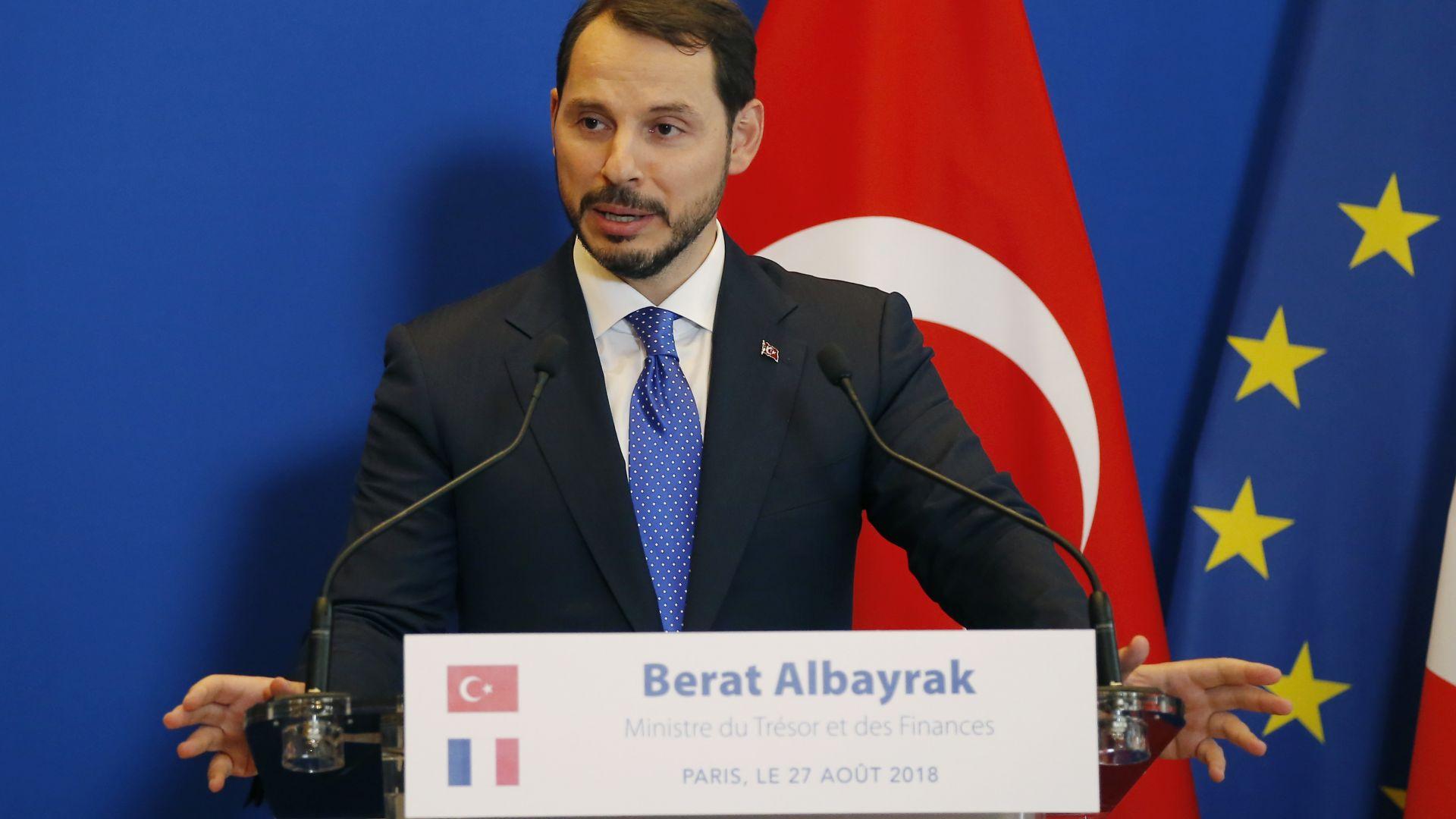 Турският министър на финансите спокоен за икономиката