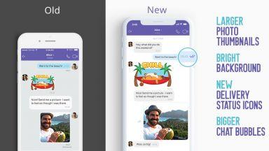 Viber ускорява чатовете и променя техния дизайн