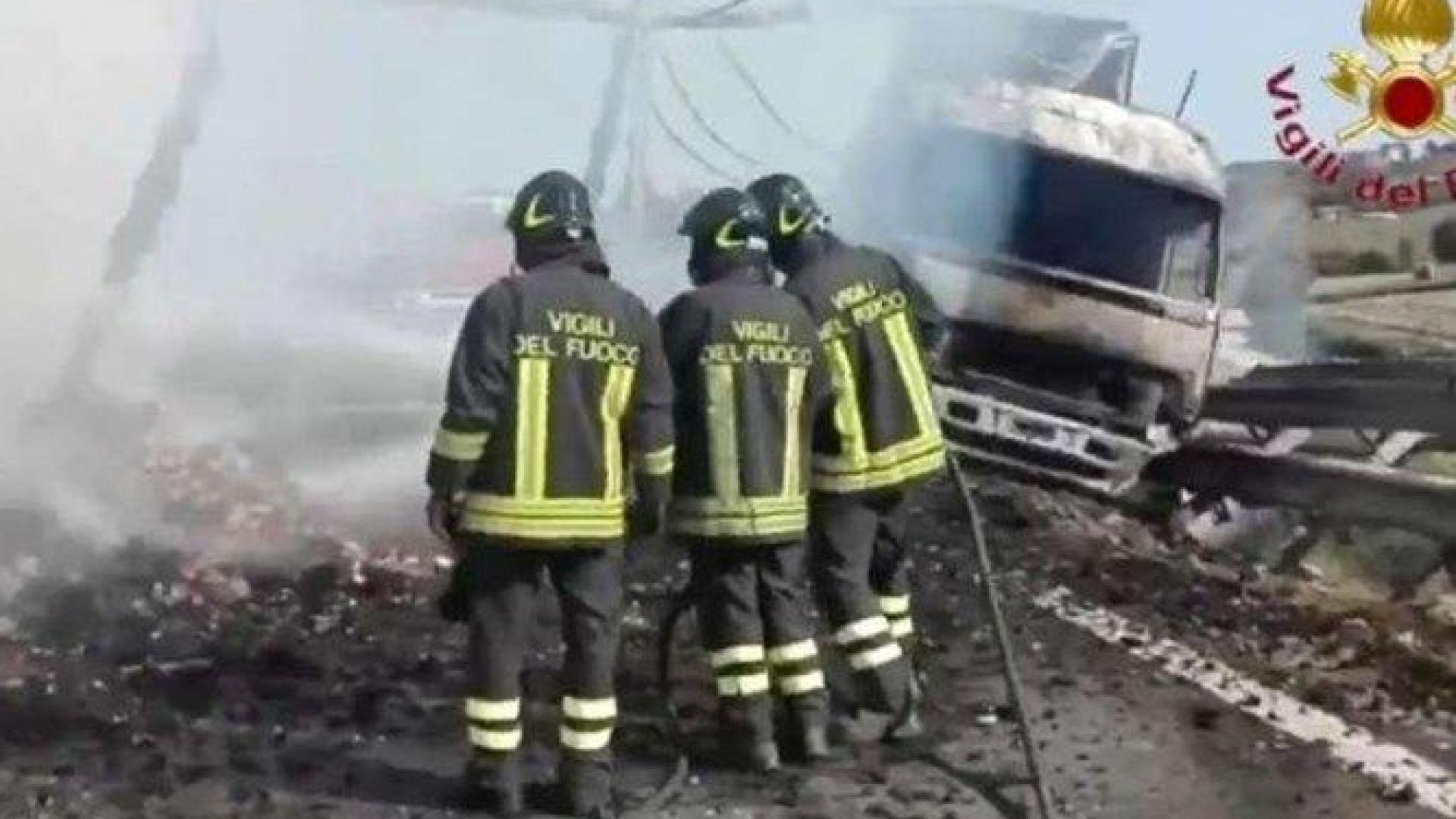 Български шофьор на ТИР катастрофира в Италия, уби баща и син