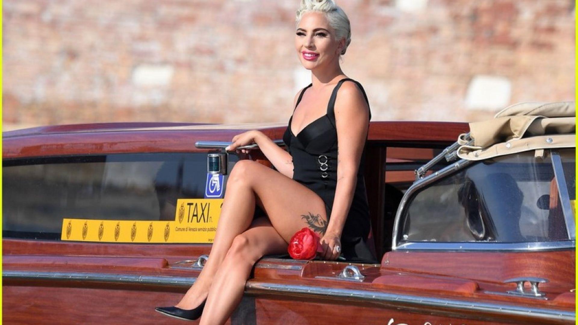 Вижте как Лейди Гага пристигна за кинодебюта си във Венеция