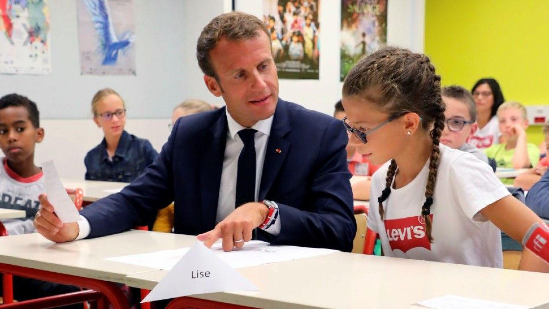 Макрон на откриването на учебната година: Президент не е професия (снимки)