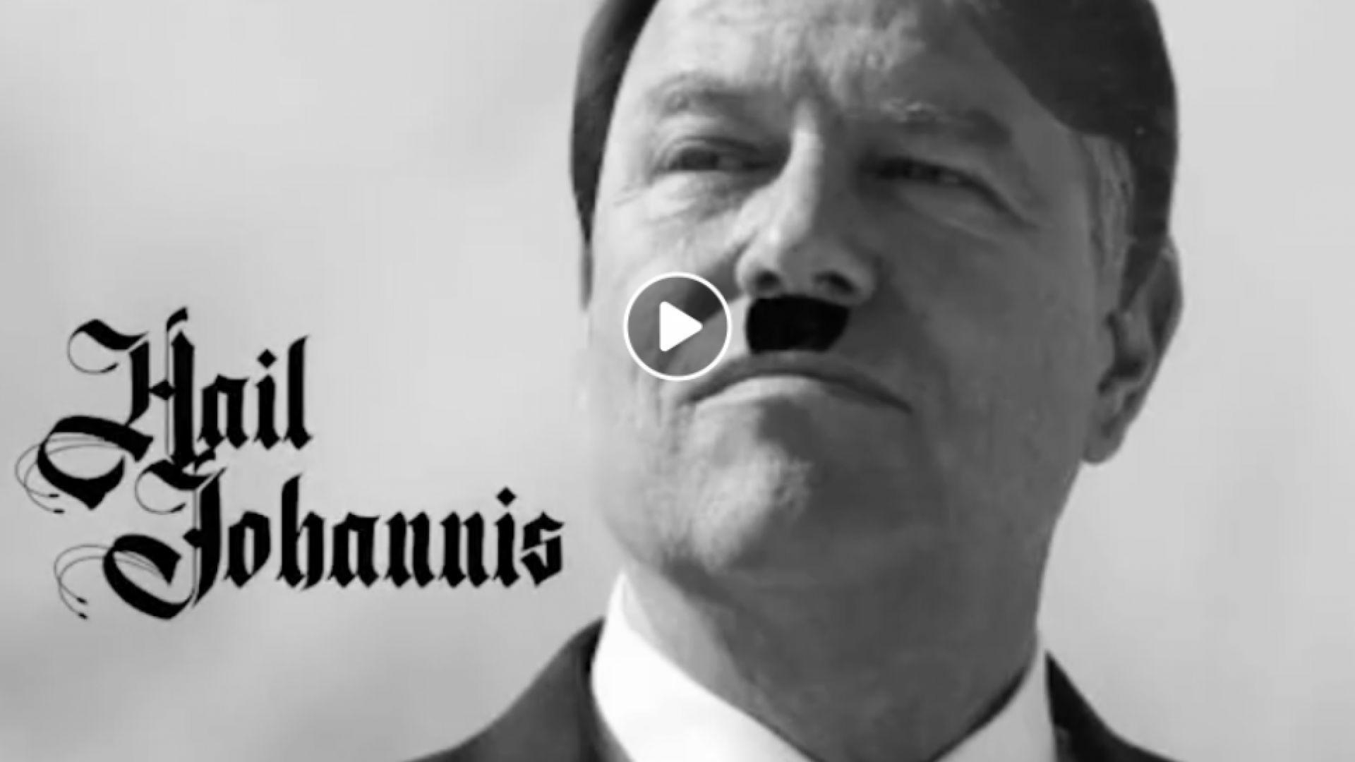 Скандал в Румъния - правителствен съветник прави фотомонтаж на президента като Хитлер