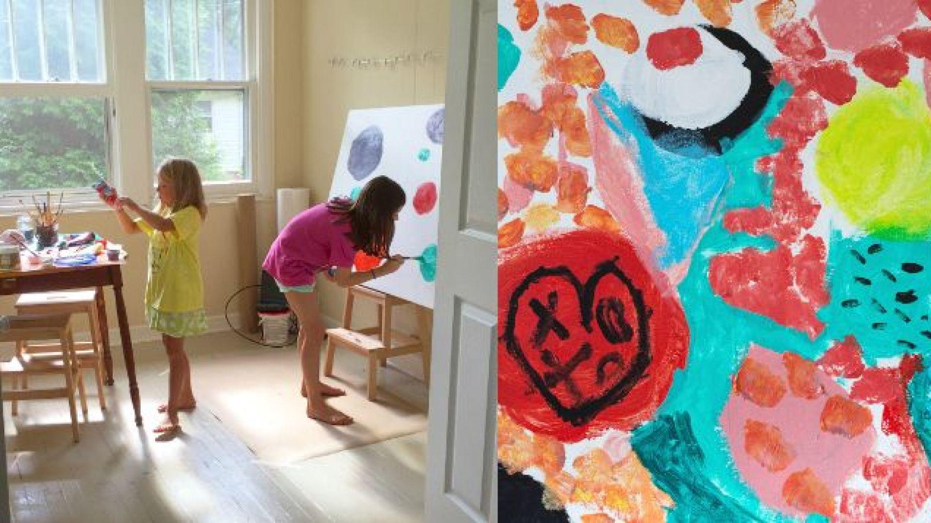 Две платна за красивите рисунки на децата ни можем да открием за  9.99 лв. в Kaufland