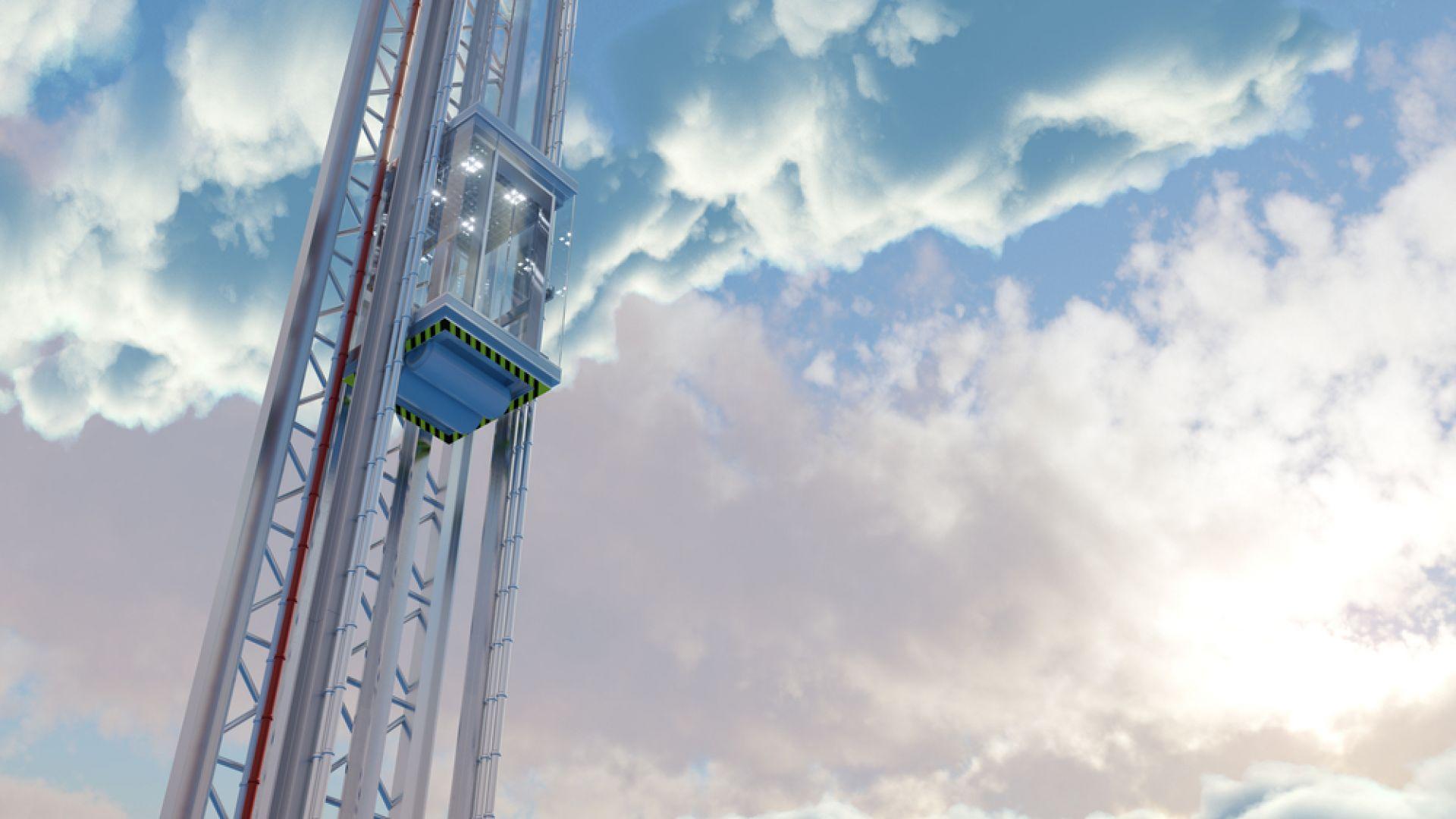 Япония тества космически мини асансьор