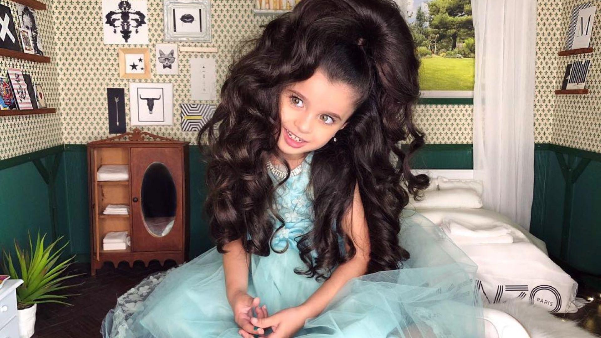 5-годишно момиченце стана Instagram звезда заради косата си