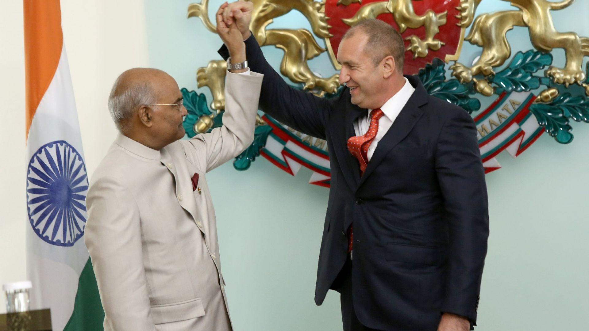 Радев посрещна президента на Индия в София
