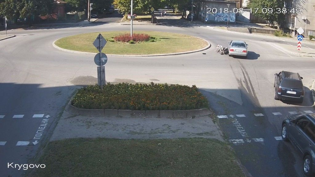 Кадър от записа на катастрофата на 17 август в Харманли