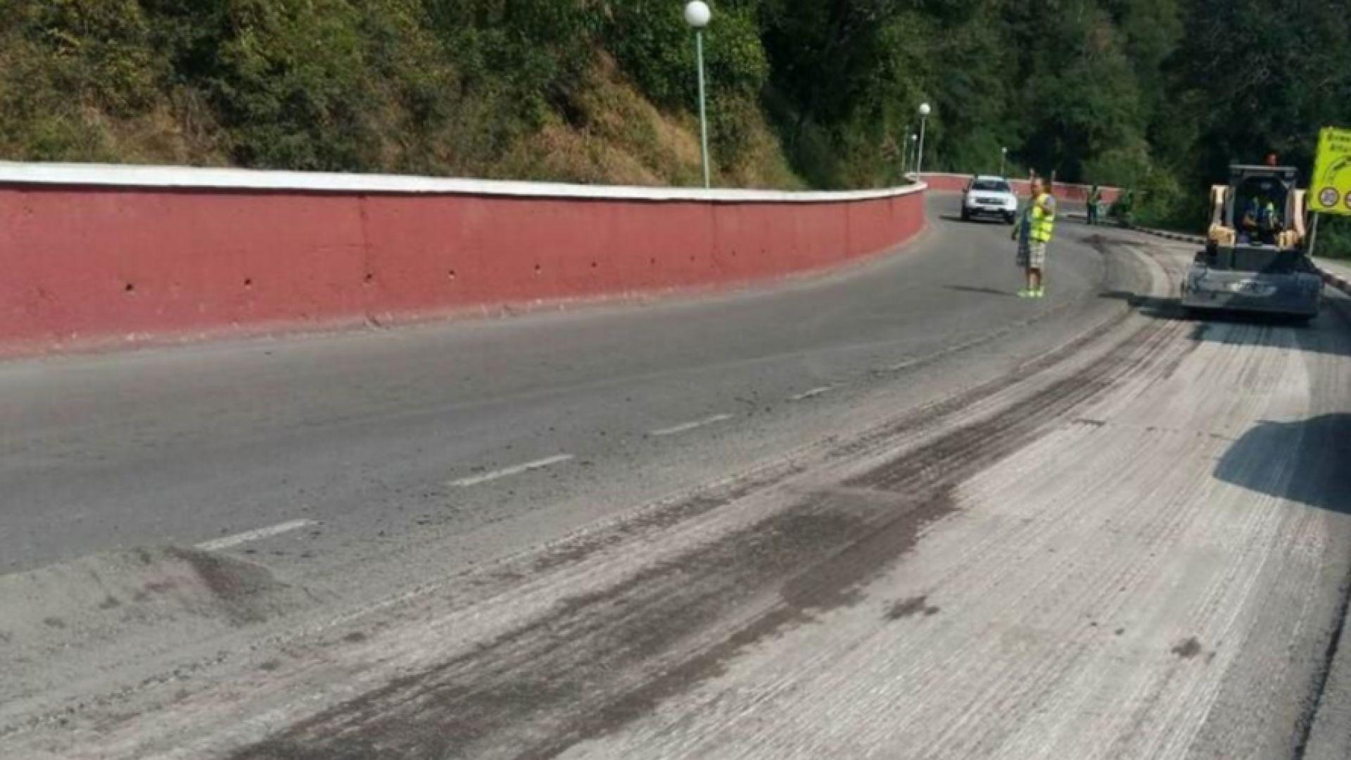 Преасфалтират опасния участък от пътя Своге - София