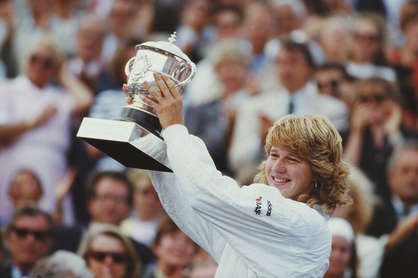 """С първата си титла от Голям шлем - """"Ролан Гарос"""" през 1987-а"""