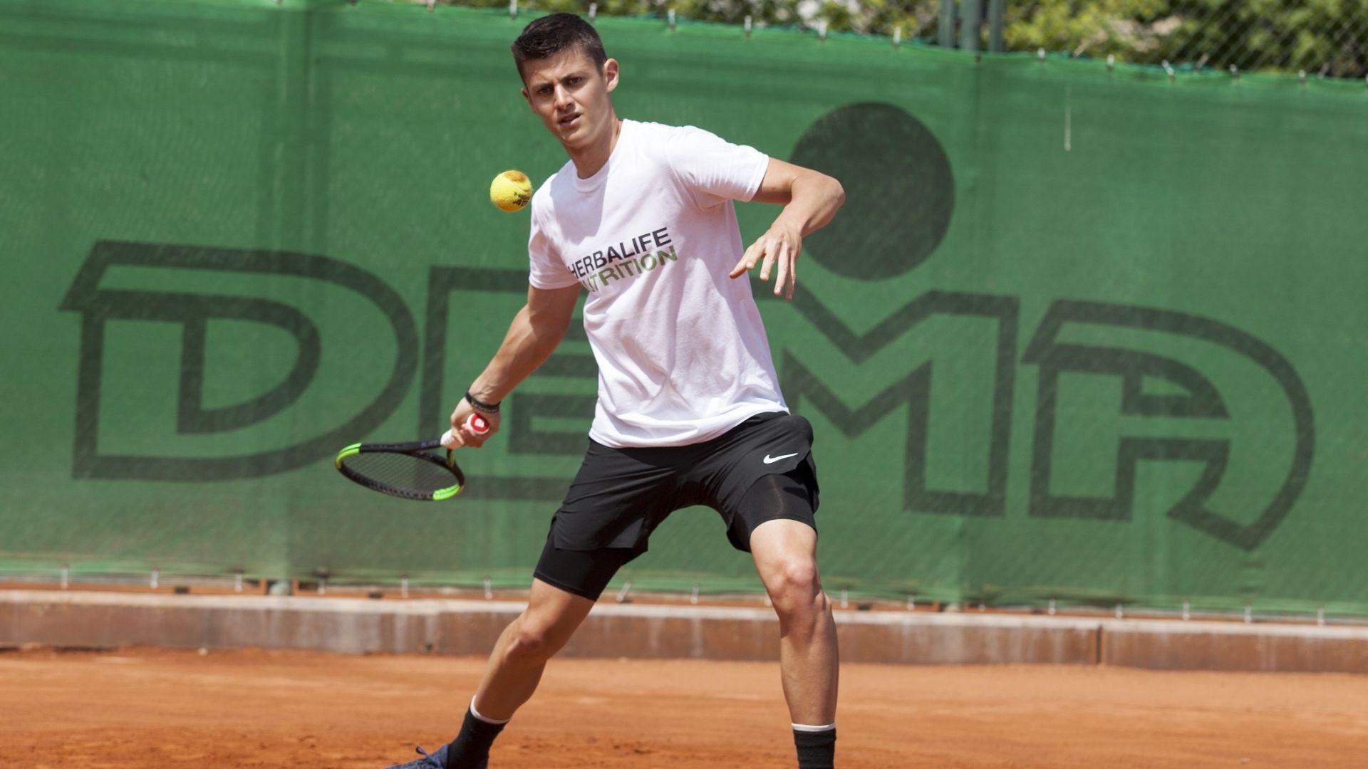 Herbalife Nutrition обявява официалното си спонсорство на изгряващата българска тенис звезда Александър Лазаров