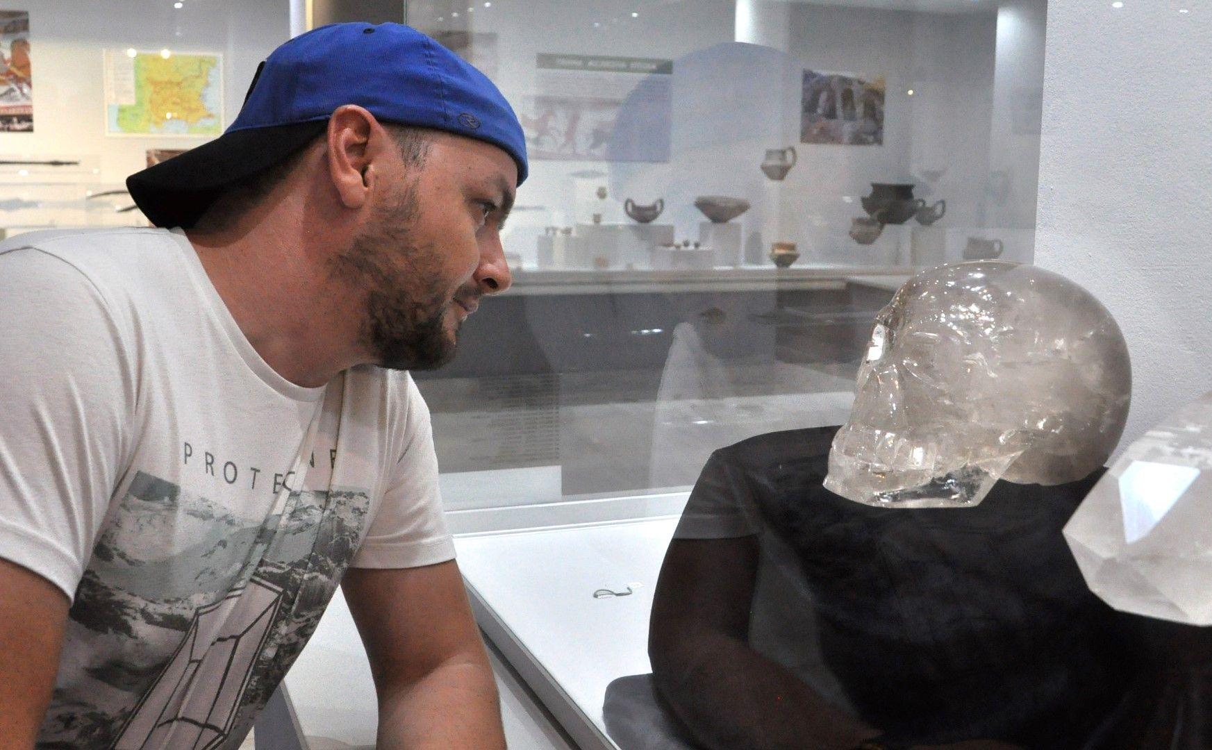 Черепът се показва за първи път в България