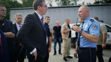 Ветерани от Косовската война блокираха пътя на Вучич