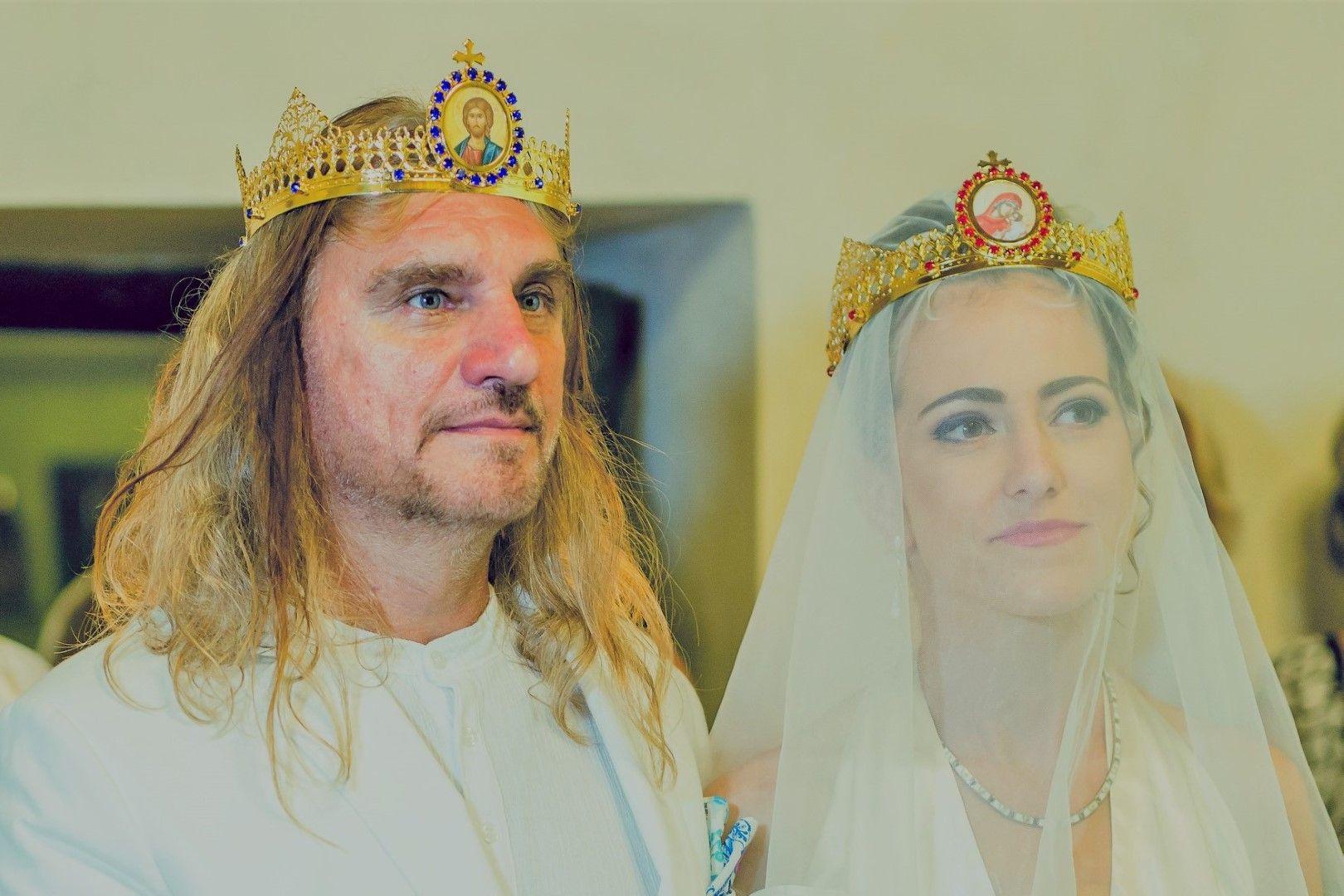 Коцето Калки и Мартина на сватбата им