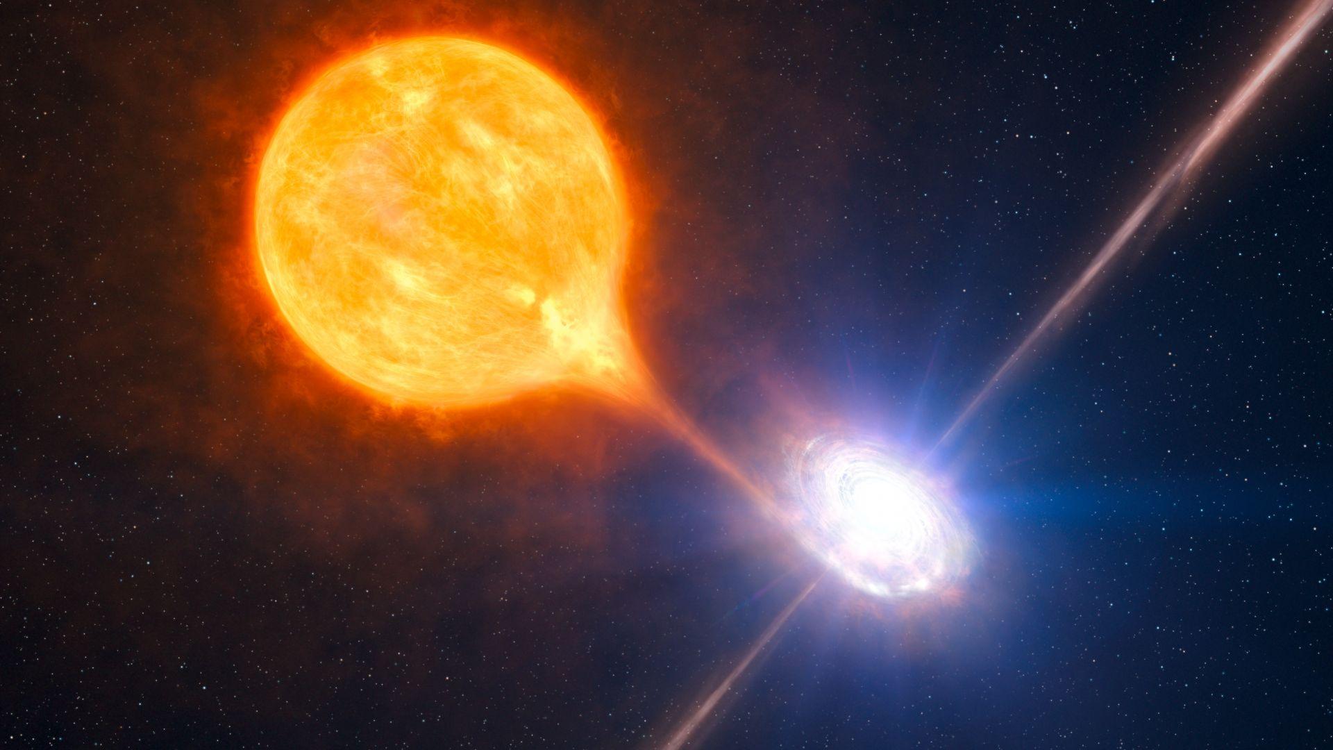 Свръхмасивните черни дупки могат да формират звезди