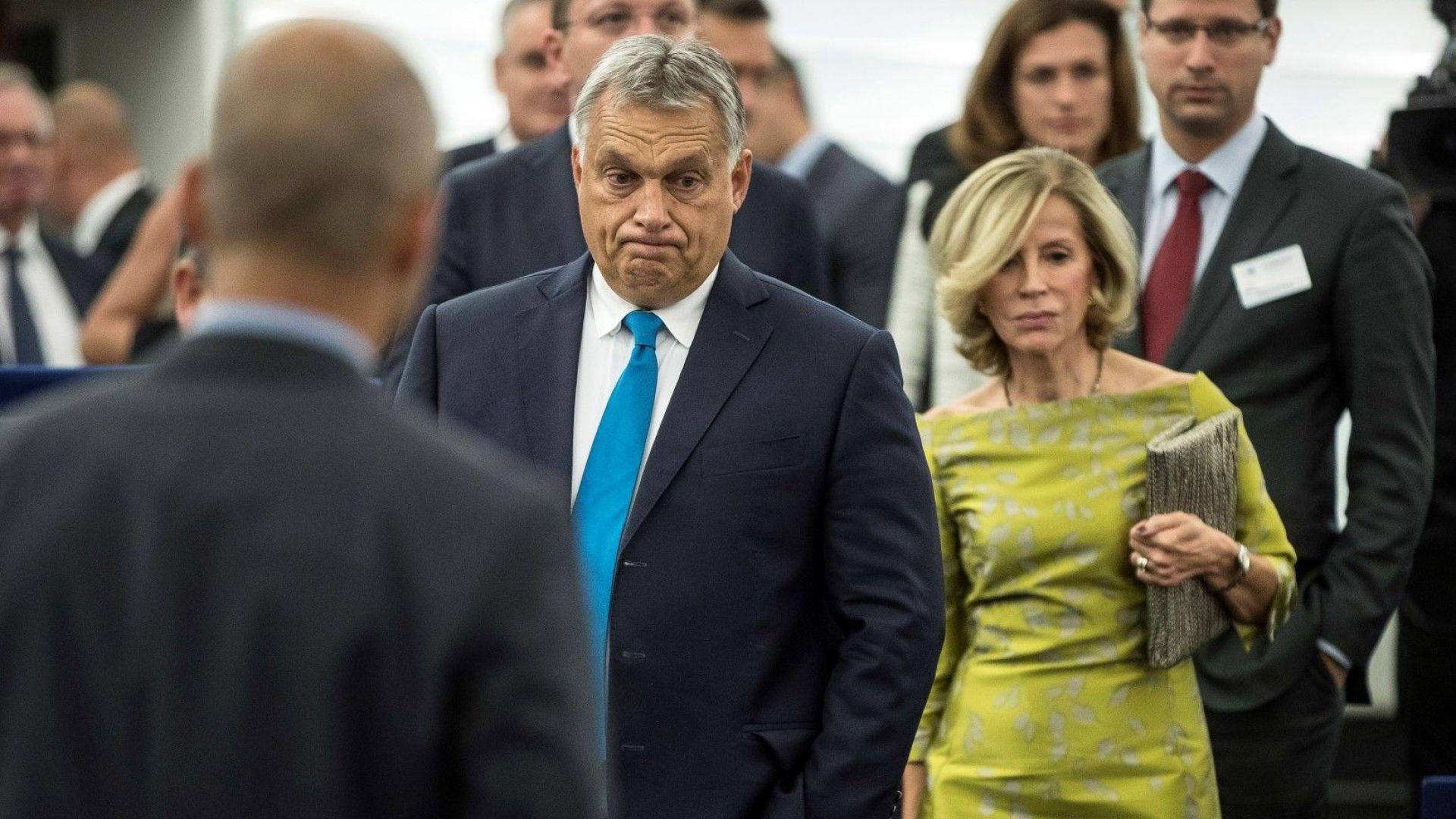 Виктор Орбан влиза в ЕП преди разглежгдането на санкциите срещу страната му