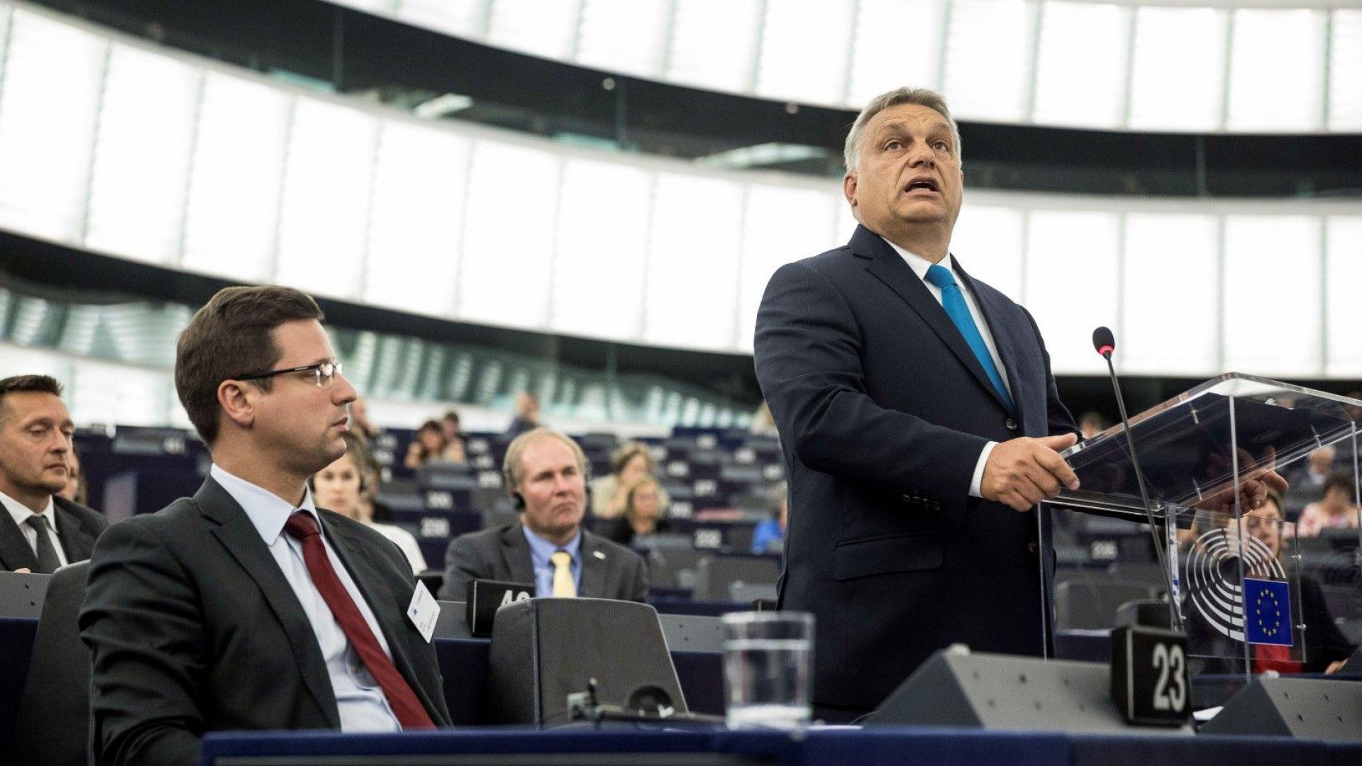 Виктор Орбан защити страната си по време на дебатите за налагане на санкции на страната му