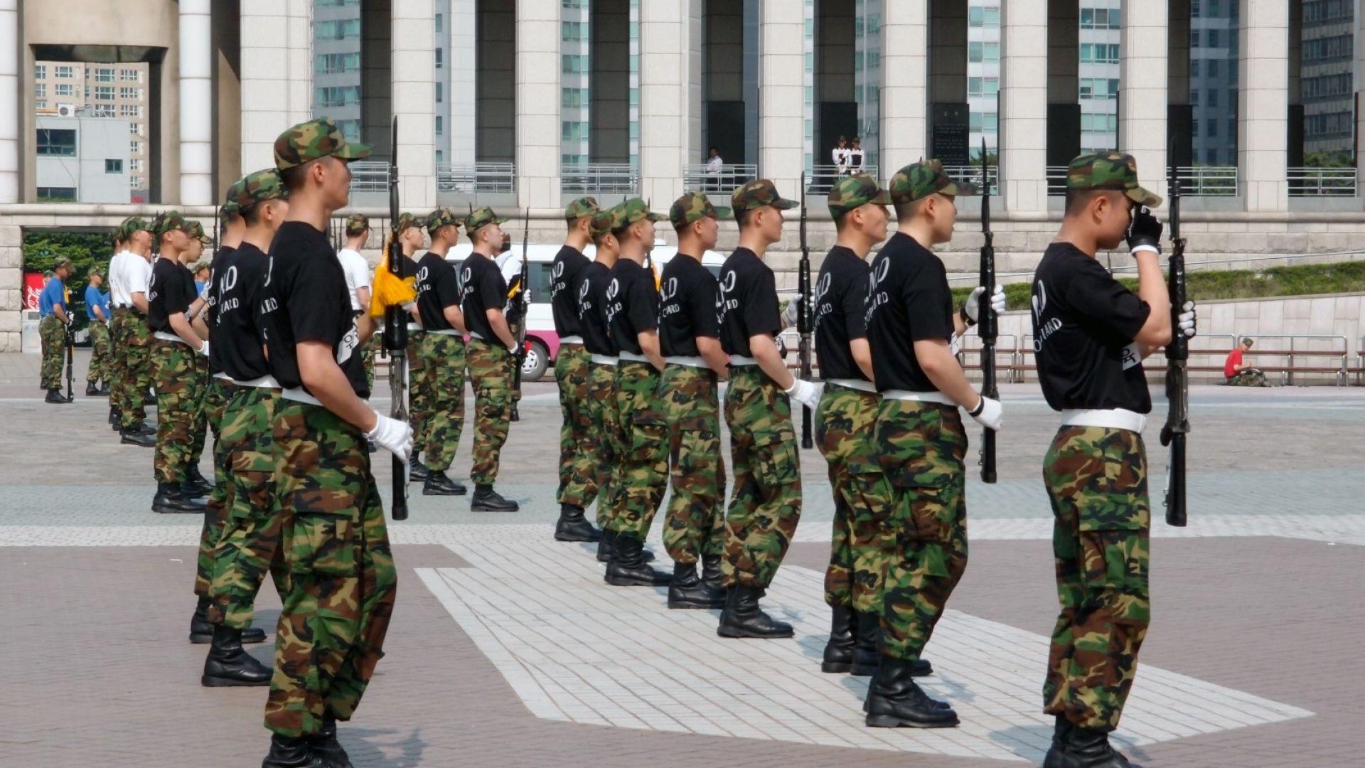 Южнокорейската армия обвини студенти, че са напълнели, за да избегнат служба (видео)