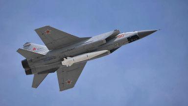 """Русия пусна видео с изпитания на хиперзвуковите """"Кинжали"""""""