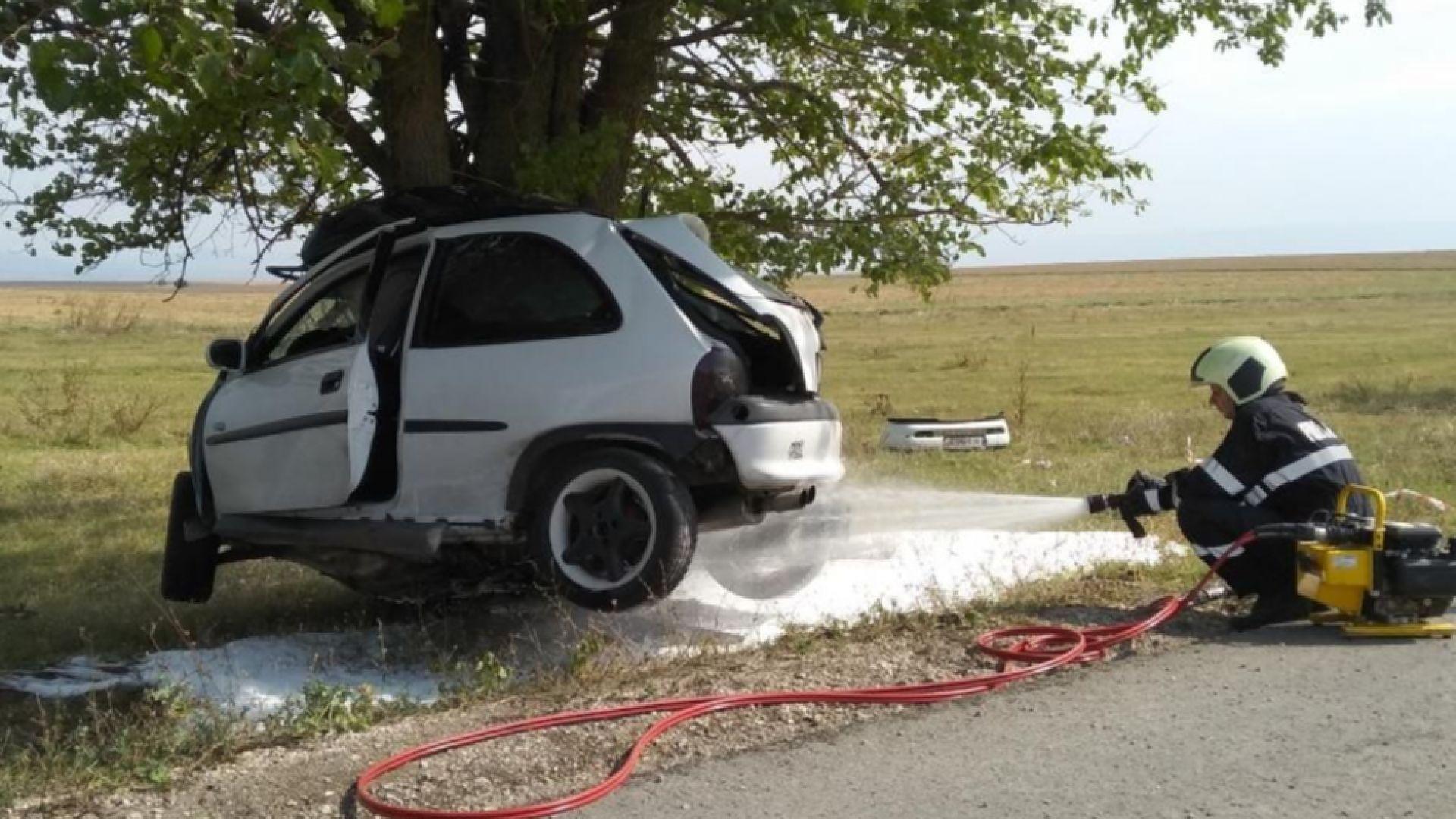 Млада жена от Шумен загина след смъртоносен удар в дърво (снимки)
