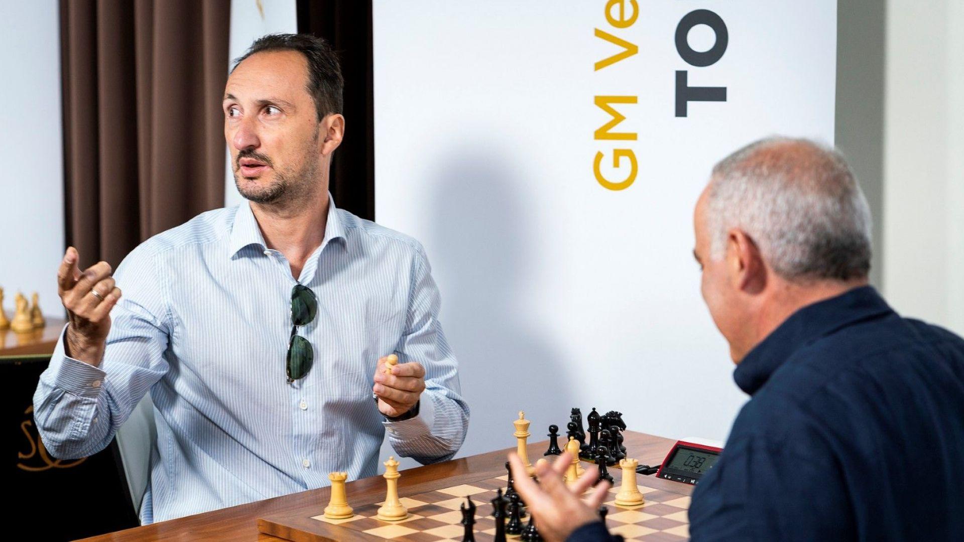 Каспаров отвърна на удара, но Топалов е много близо до победата