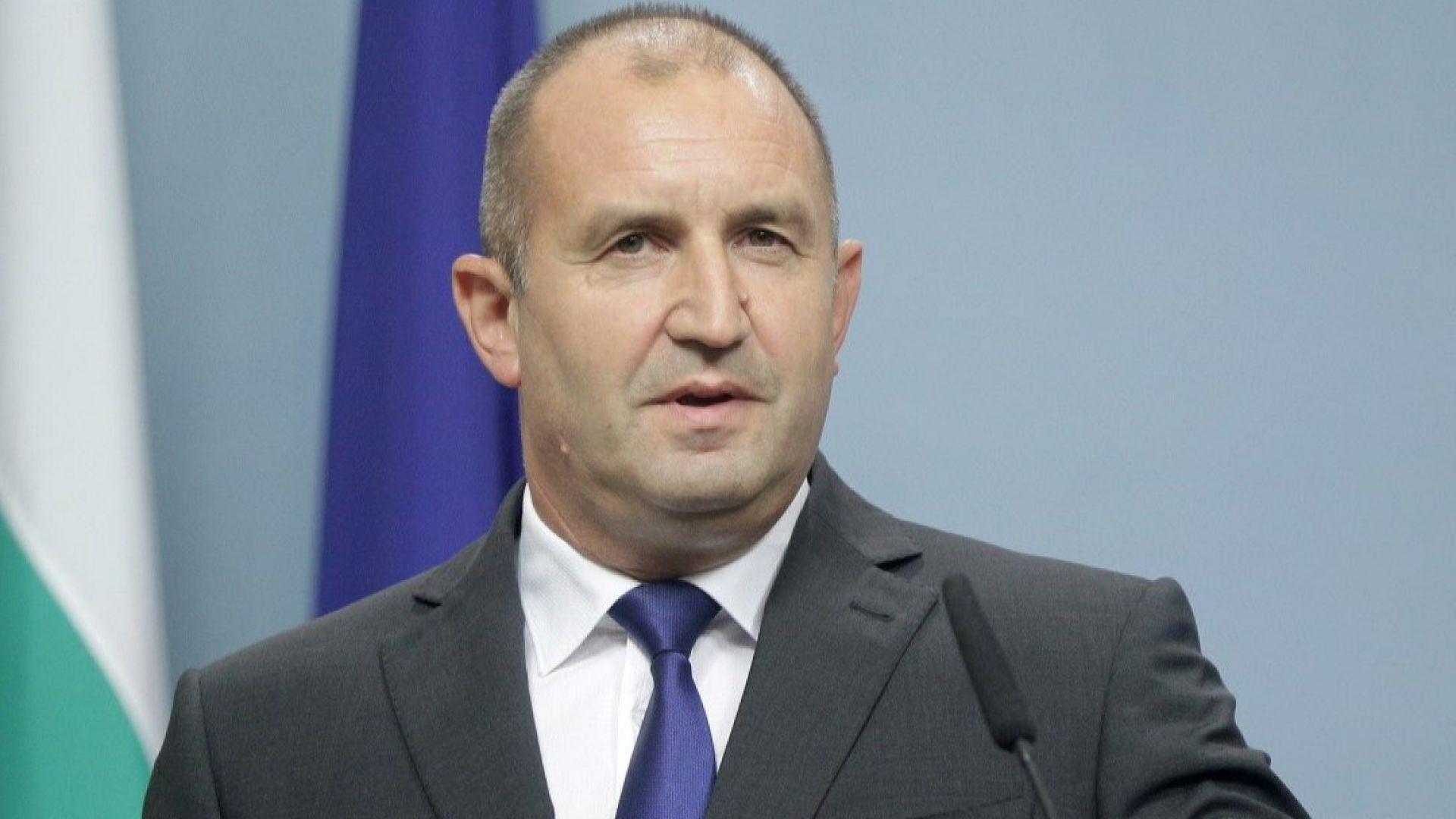 Президентът Румен Радев отправи призив за национално единение