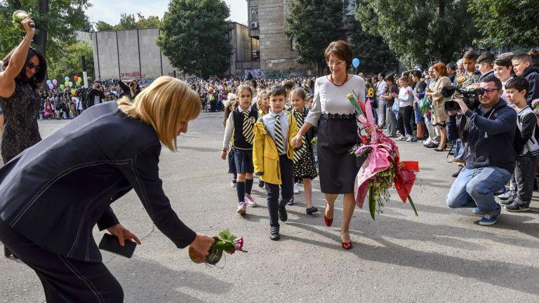 Йорданка Фандъкова откри учебната година в Първа английска гимназия
