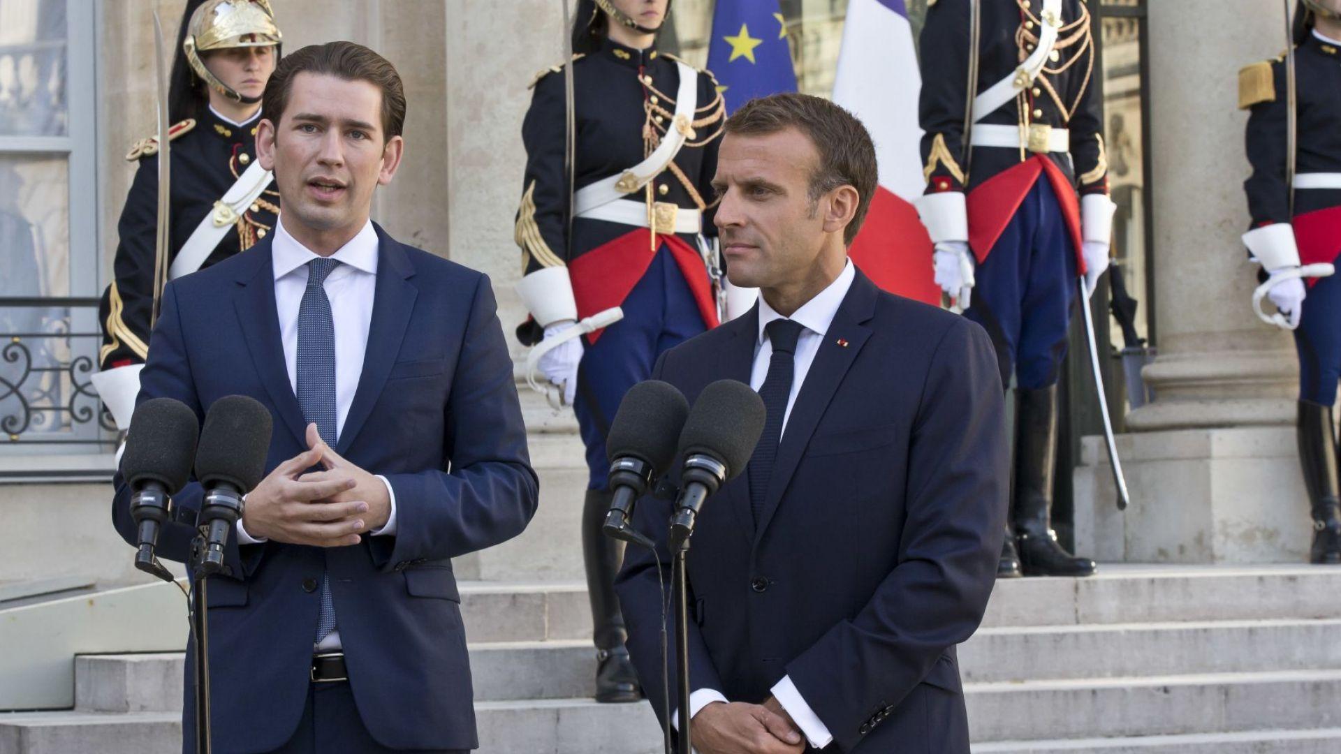 """Австрийският канцлер и френският президент не искат """"твърд Брекзит"""""""