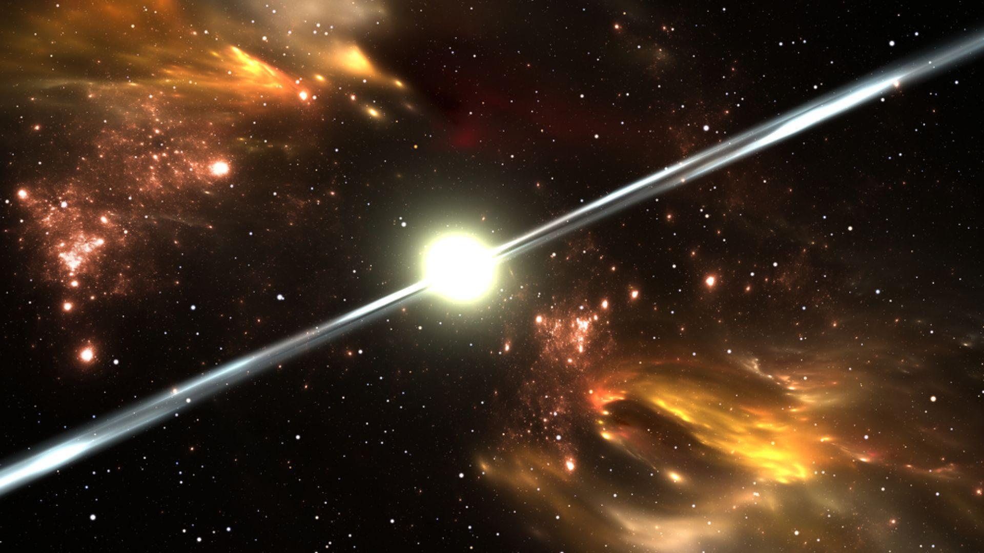 Наблюдаваха загадъчен термоядрен взрив върху пулсар