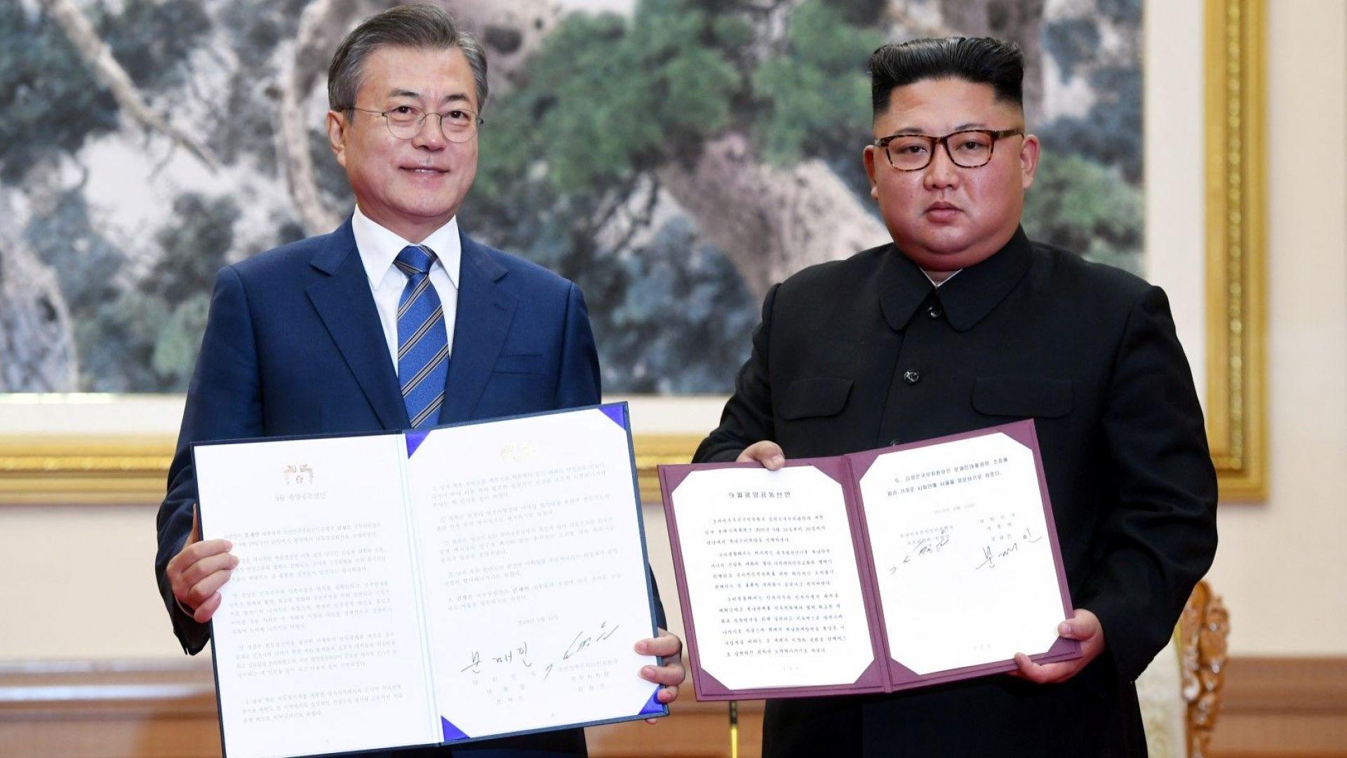 Лидерите на двете Кореи се разбраха за олимпийска кандидатура