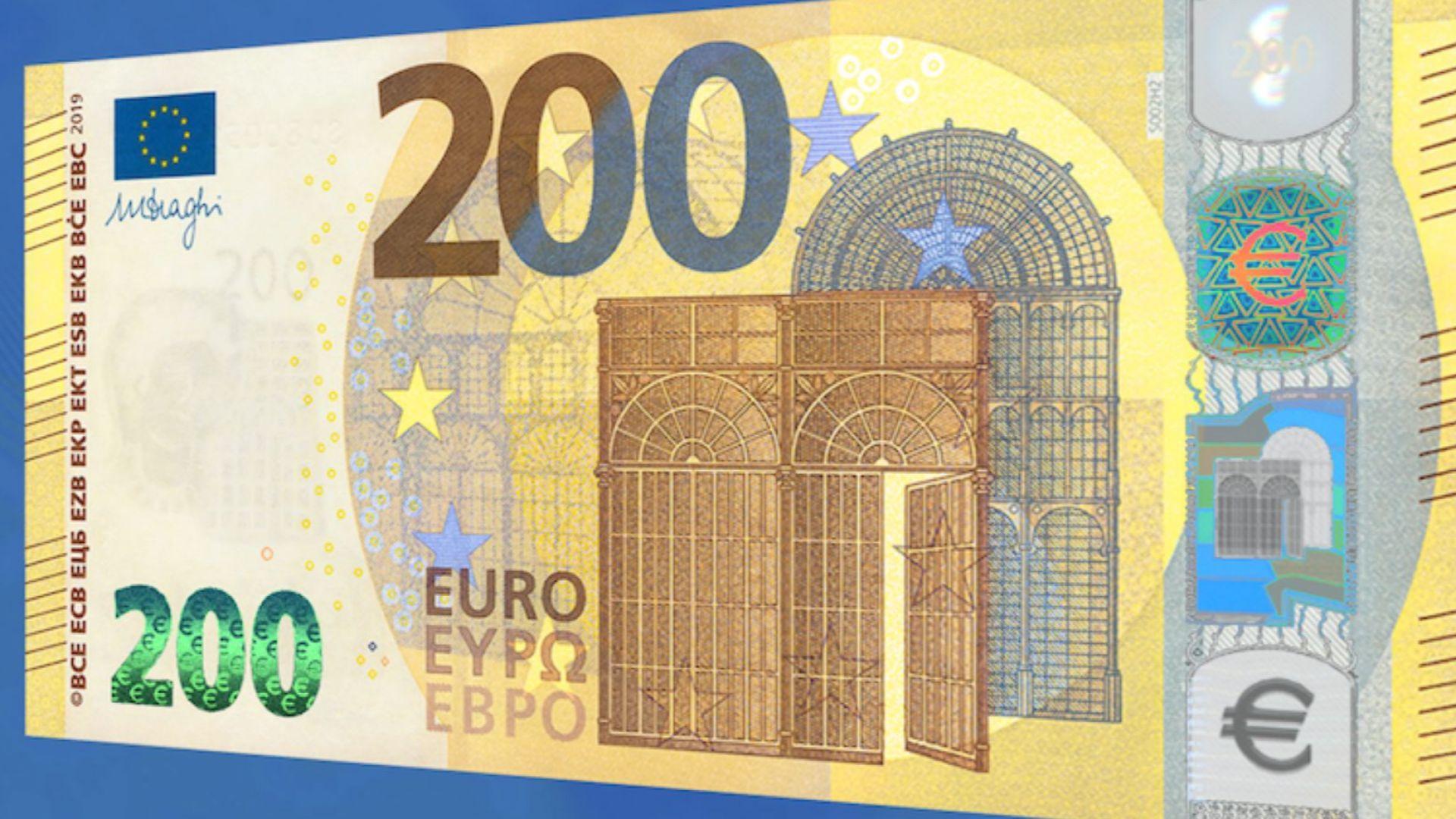 Показаха новите банкноти от 100 и 200 евро