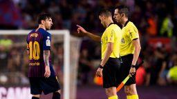 "Барселона сбърка срещу ""свои"",  Меси изригна срещу рефера"