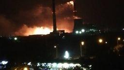 Голям пожар в ТЕЦ Сливен (снимки)