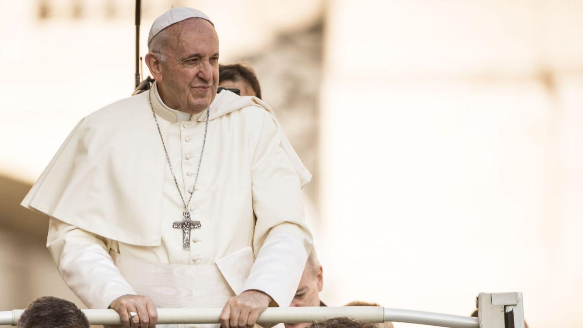 Дават 1 млн. долара на папа Франциск, ако стане веган