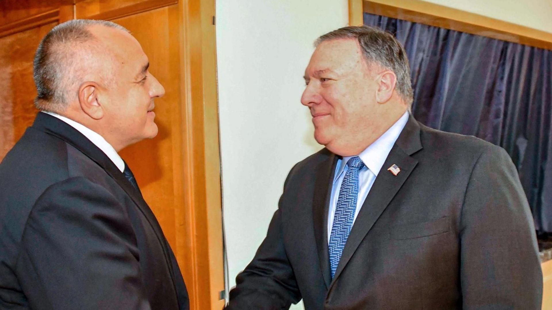 Борисов към Помпейо: Бихме оценили подкрепа на САЩ за газовия хъб