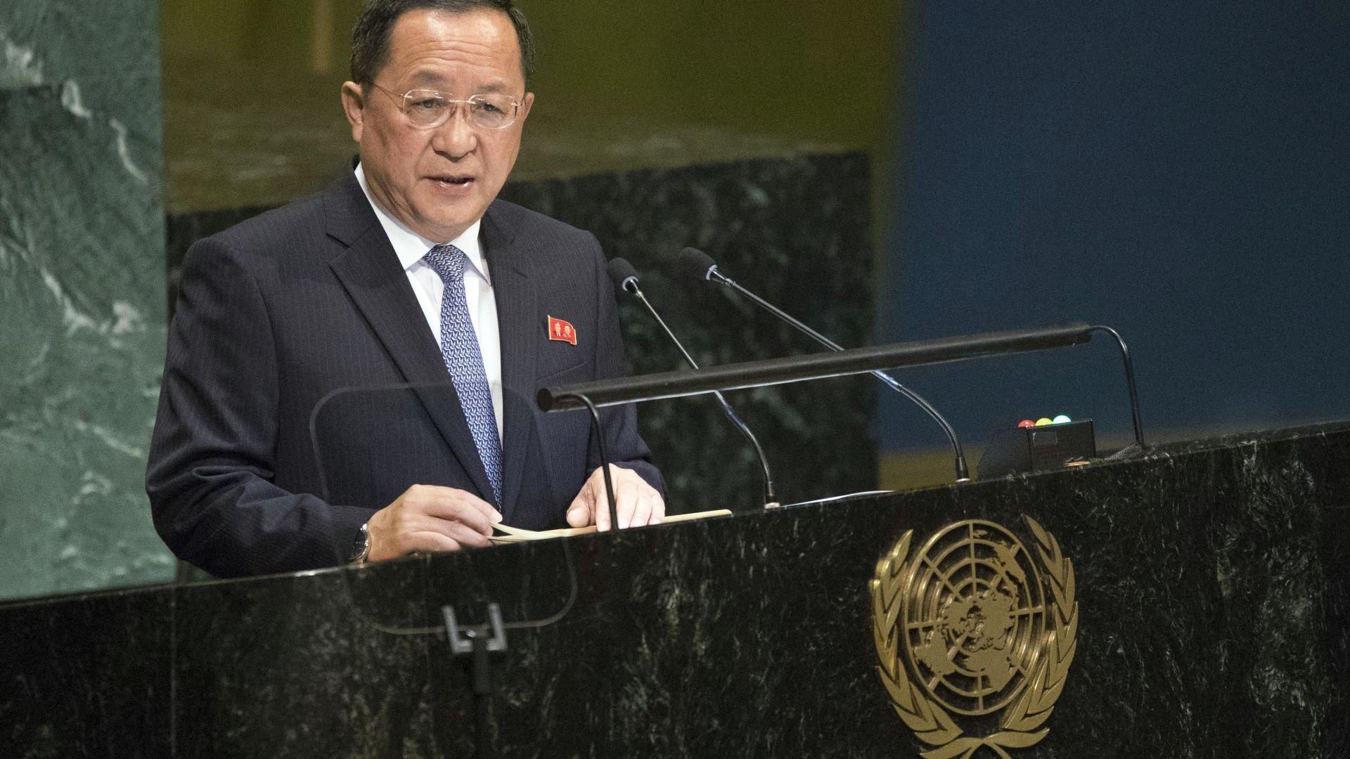 Пхенян иска падане на санкциите и тогава ще се разоръжи