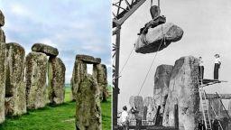 Разочароващи архивни снимки от реставрация на Стоунхендж