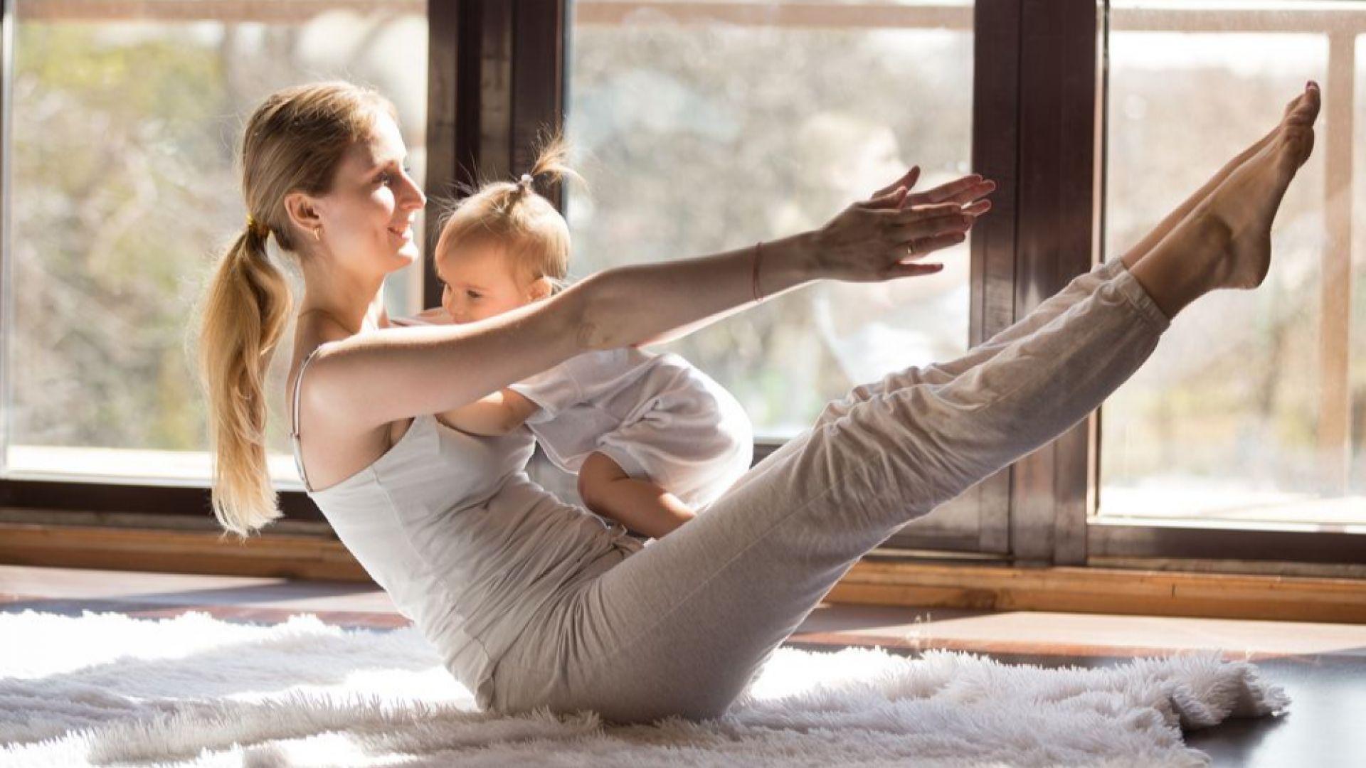 5 упражнения за стягане на корема след раждане