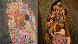 Възстановка с живи модели на картините на Густав Климт