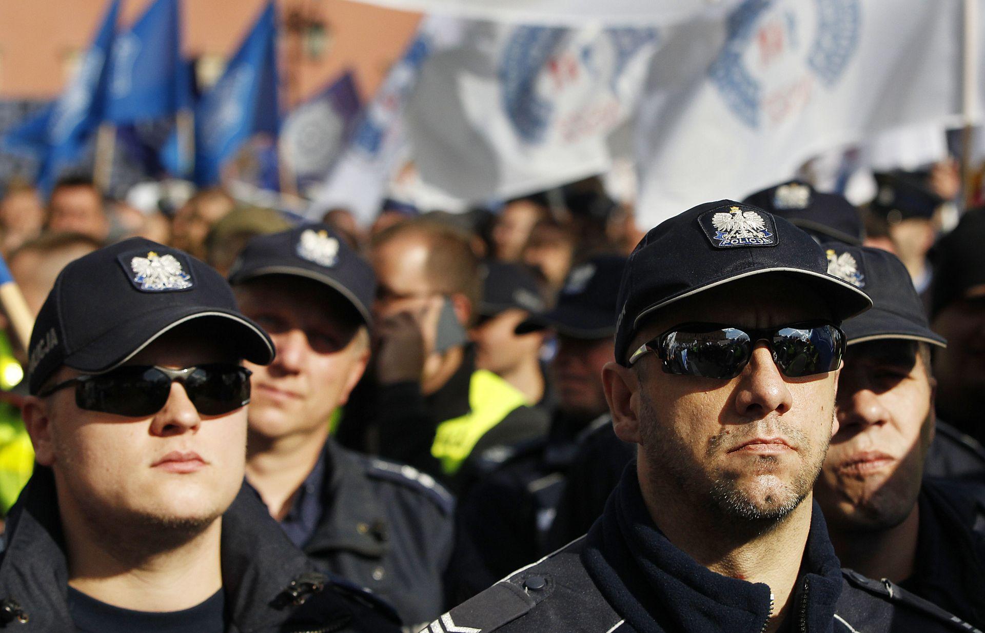 Полицейският протест във Варшава