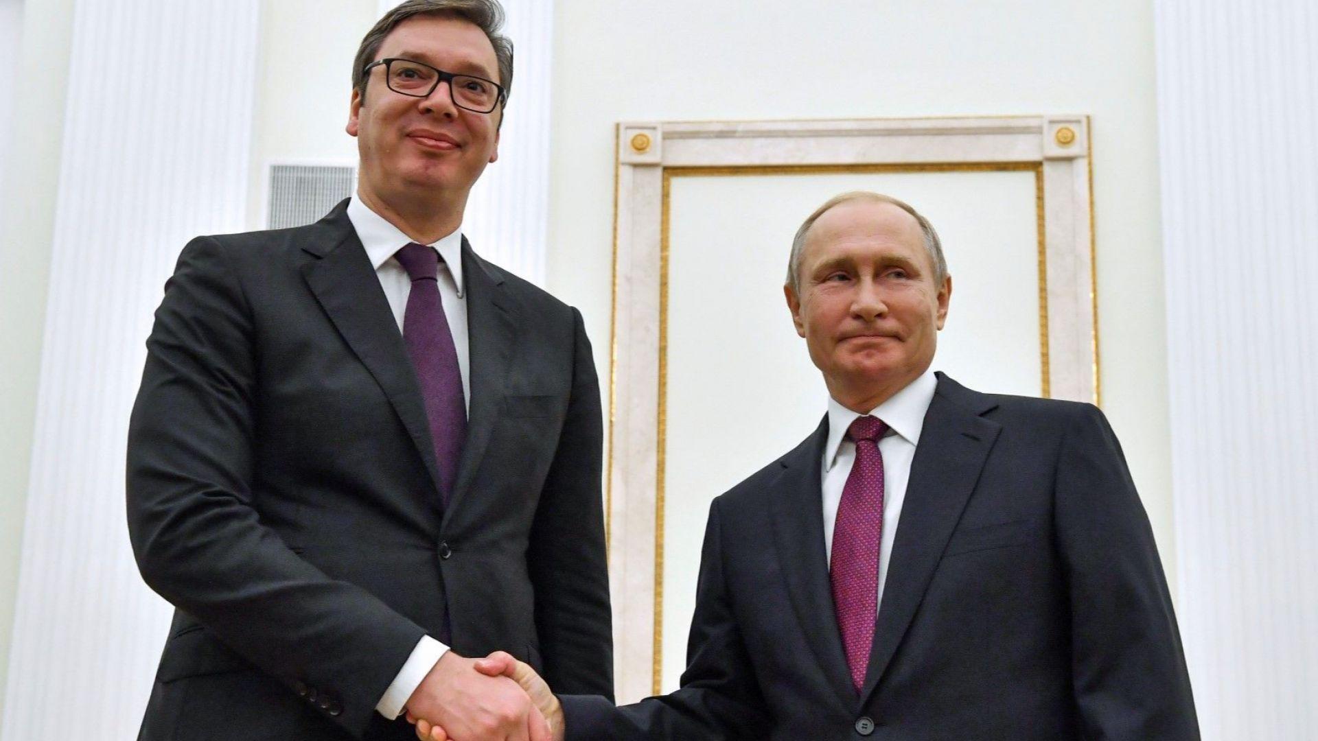 Преди посещението на Путин: Сърбия може да разчита на Русия