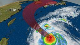 Супертайфунът Конг-Рей удря Корея и Япония (видео)