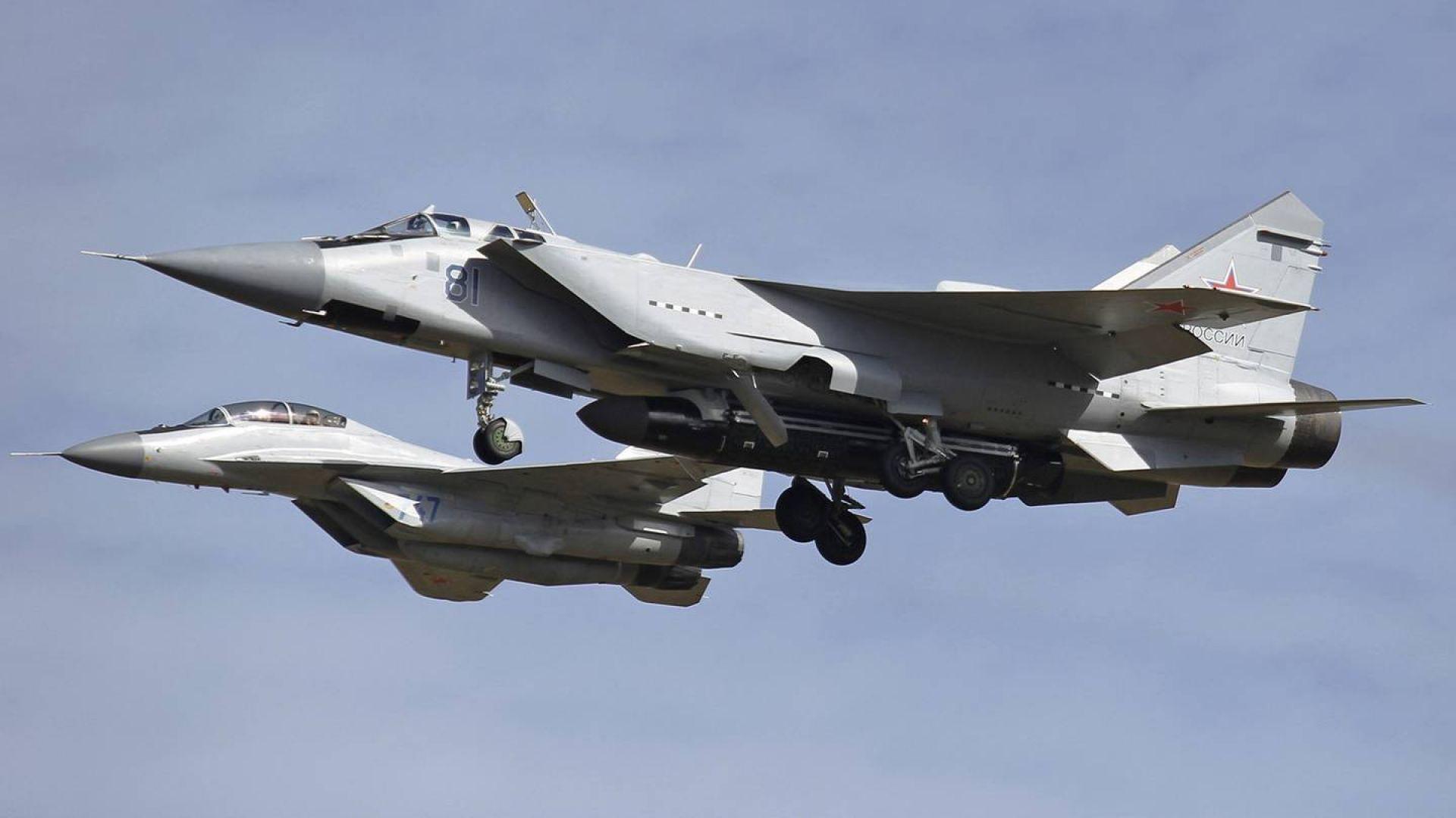 Заснеха МиГ-31 със странно оръжие