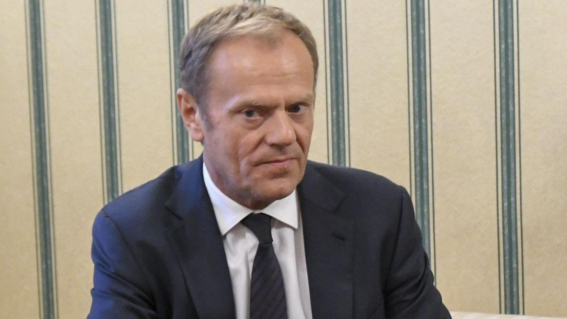 Туск предупреди, че има голям риск Полша да напусне ЕС