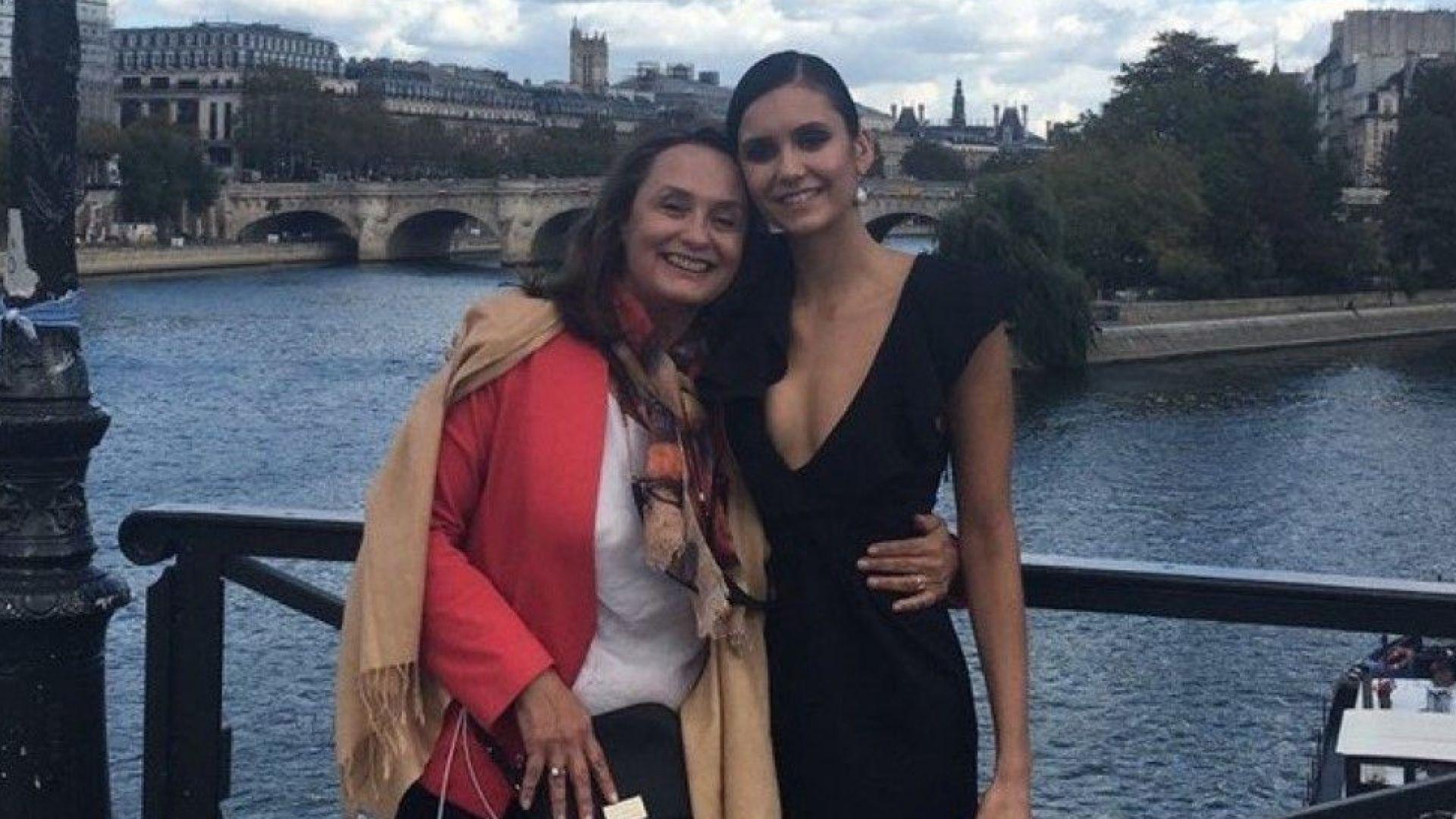 Нина Добрев заведе майка си в Париж за Седмицата на модата