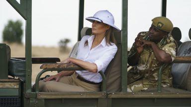 Мелания на сафари в Кения (снимки)
