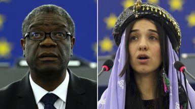 """Лекар от Конго и жертва на """"Ислямска държава"""" получиха Нобел за мир"""