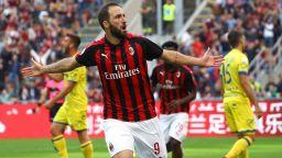 Игуаин поведе Милан за лесна победа, но пак без суха мрежа (резултати)