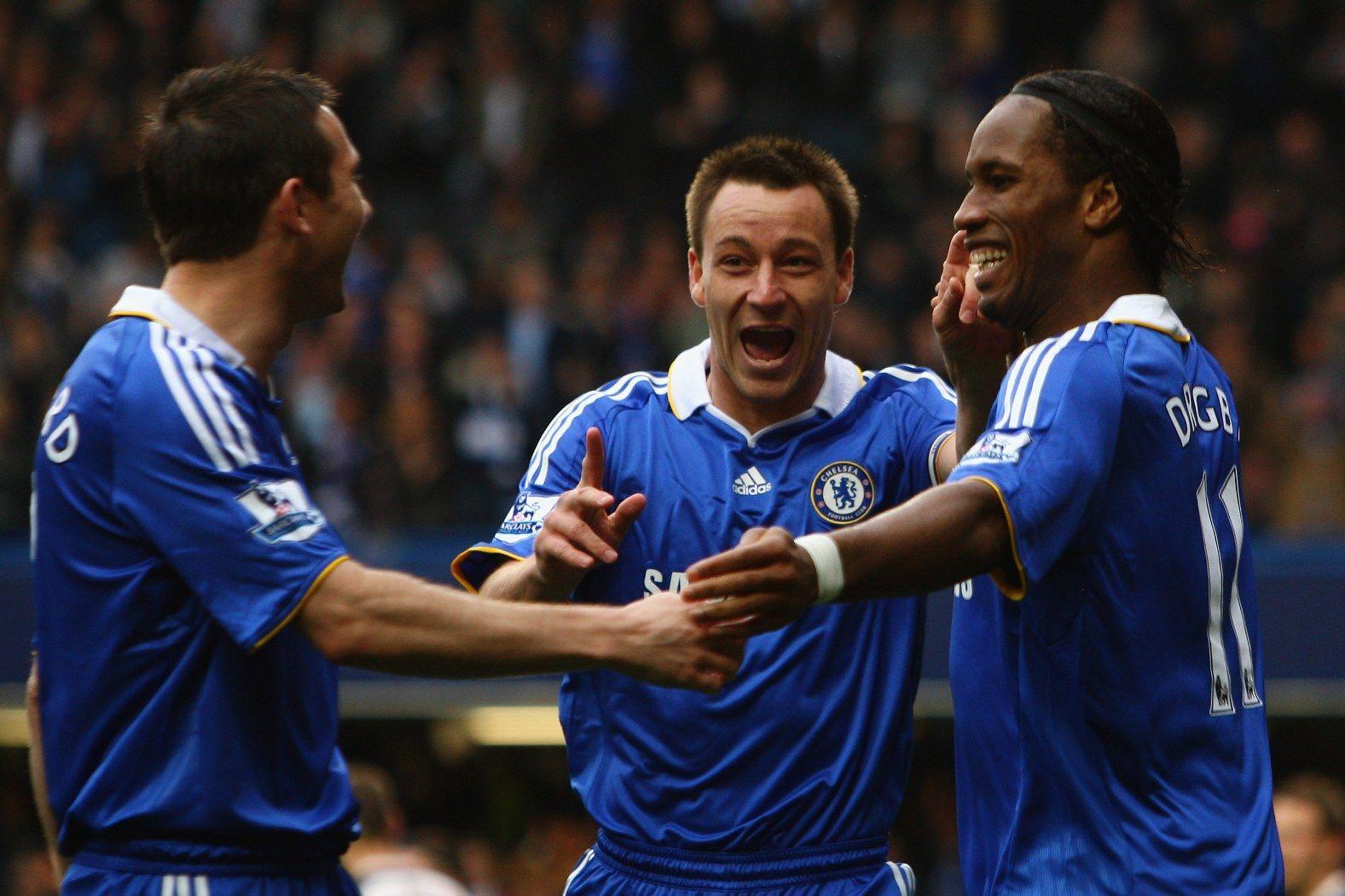 Гол срещу Болтън през 2009-а, в който празнуват трите най-големи съвременни легенди на Челси